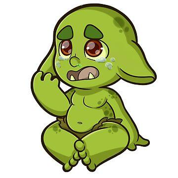 Baby Orcs - Crying by EmeraldDice