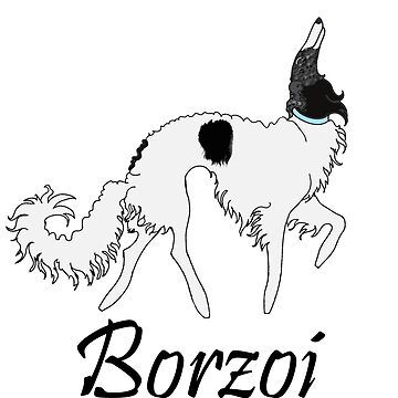 Baby Blue Borzoi by tcarey