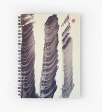 Chinese/Japanese contemporary cityscape  Spiral Notebook