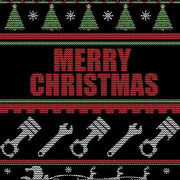 Piston engineer Christmas jumper by EngineeringMind