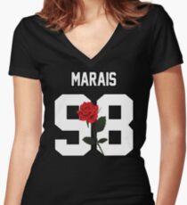 Jonah Marais - Rose Women's Fitted V-Neck T-Shirt
