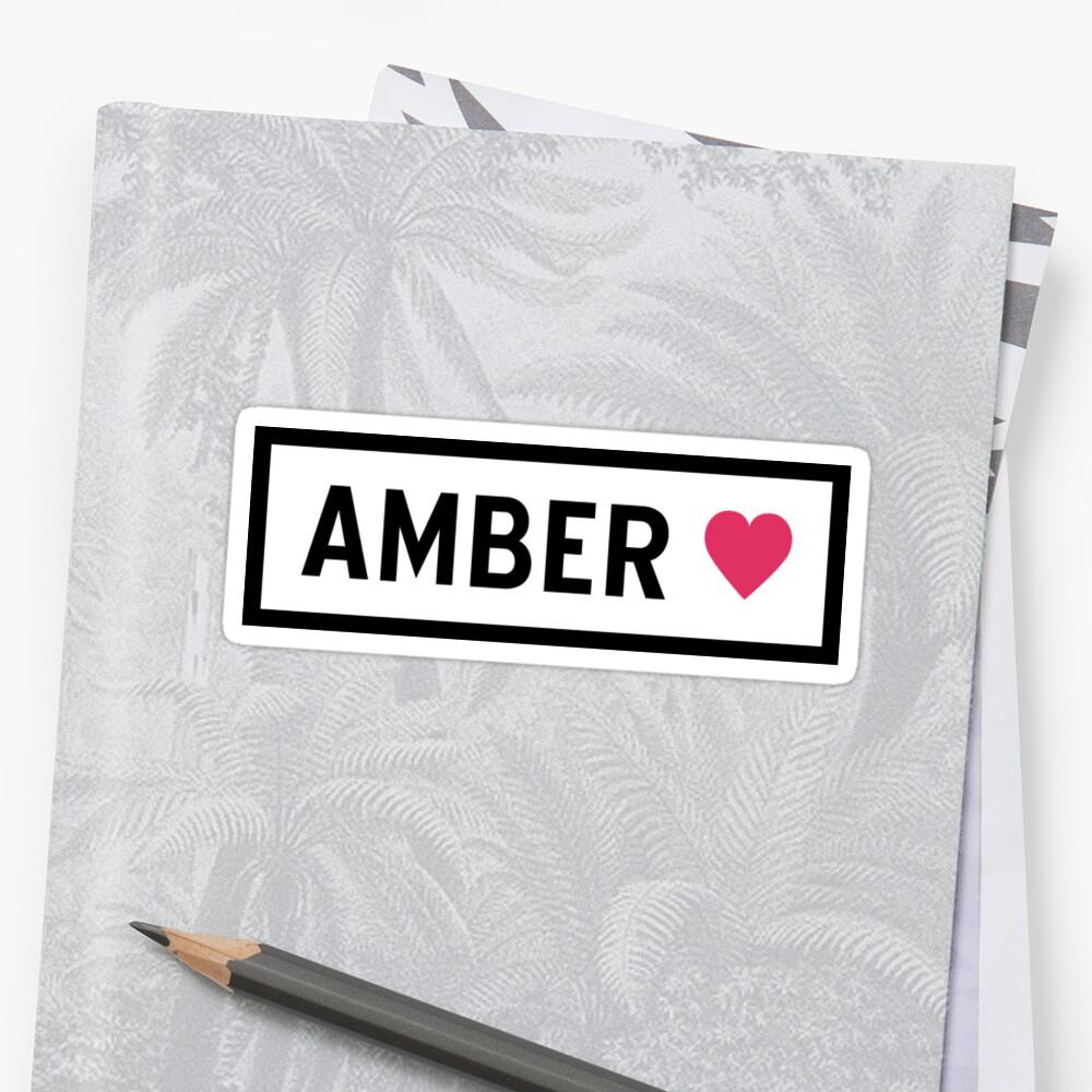 Amber Sticker Front
