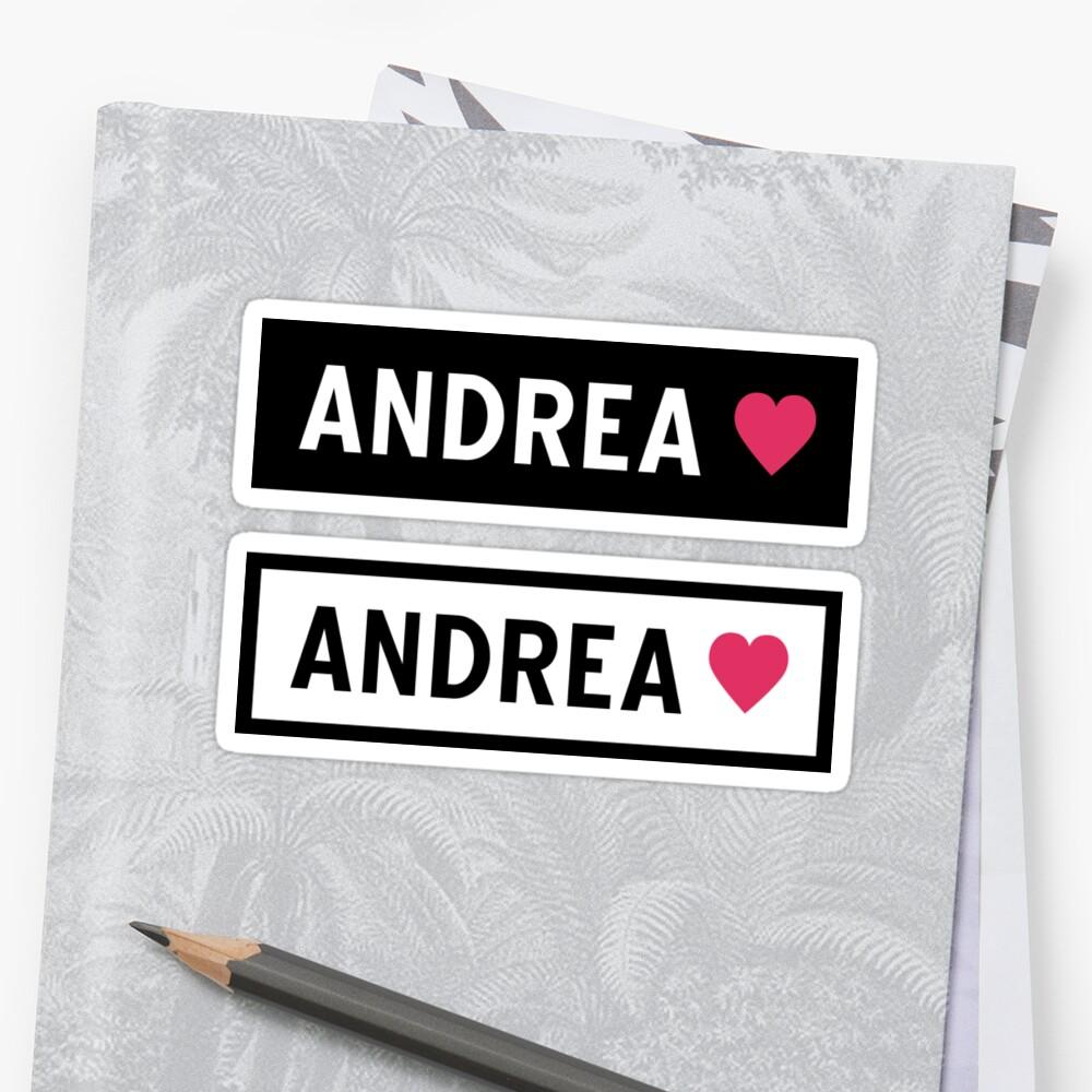 Andrea Sticker Front