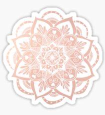 Flower Mandala on Rose Gold Sticker