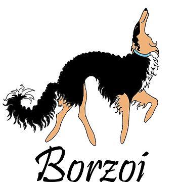 Black and Tan Borzoi by tcarey