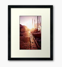Sidewalk Singalong Framed Print