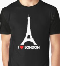 I Heart London Eiffel Tower - Joke T-Shirt  Graphic T-Shirt
