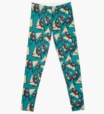 Magpies and Fairy Bread - Teal Leggings