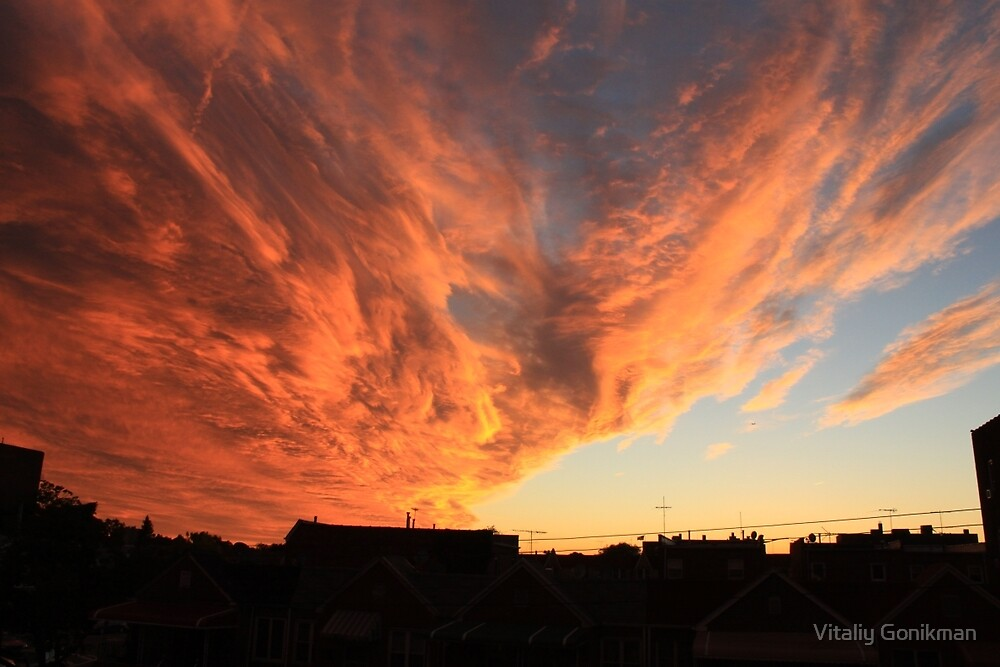 Sunset over Brooklyn New York  by Vitaliy Gonikman