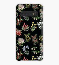 Native Flower Lino Print Case/Skin for Samsung Galaxy