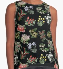Native Flower Lino Print Sleeveless Top