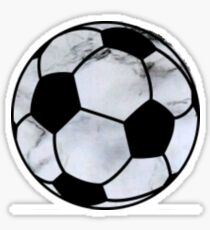 soccer ball marble  Sticker
