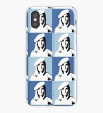 Sharon Tate Warhol Blue iPhone Case/Skin