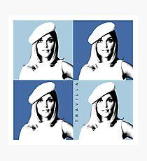 Sharon Tate Warhol Blue Photographic Print