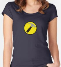 Captain Hammer (outlined) Women's Fitted Scoop T-Shirt