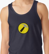 Captain Hammer (outlined) Tank Top