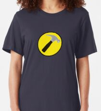 Captain Hammer (outlined) Slim Fit T-Shirt