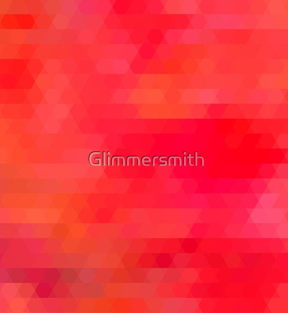 Hot pink, orange abstract geometric mosaic tiles by Glimmersmith