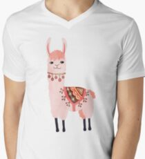 Cute Lama Sticker Men's V-Neck T-Shirt
