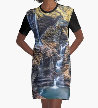 FLowing Dream Graphic T-Shirt Dress