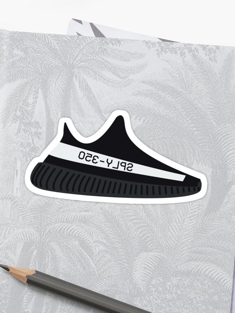 huge selection of b76e3 1491a Yeezy Boost 350 v2 Core Black White/Oreo | Sticker