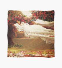 Beauty Sleeps amidst the roses,  Vintage Pre Raphaelite Vintage art Scarf