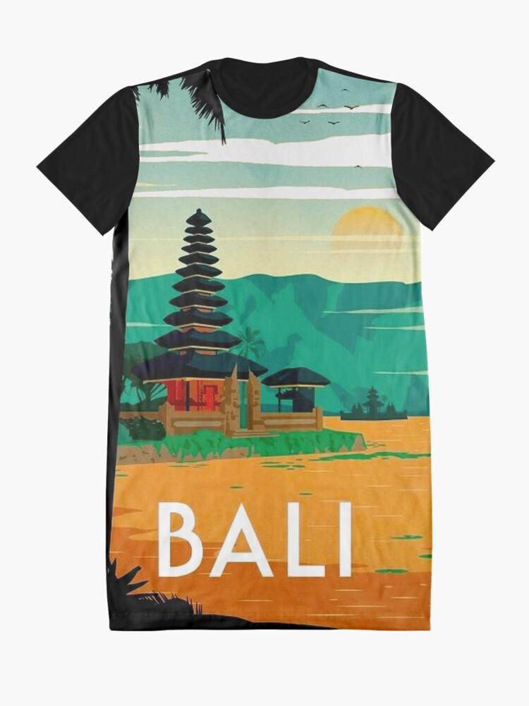 Vista alternativa de Vestido camiseta BALI: Publicidad publicitaria de viajes y turismo vintage