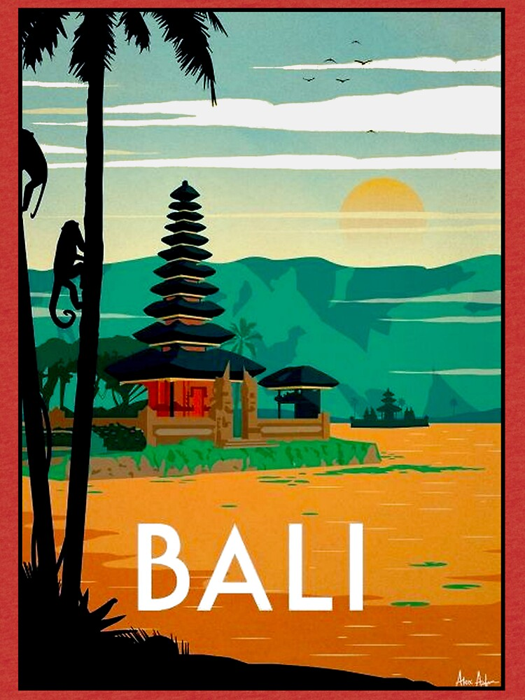 BALI: Publicidad publicitaria de viajes y turismo vintage de posterbobs