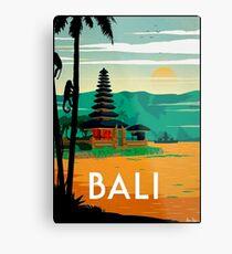 BALI : Vintage Travel and Tourism Advertising Print Metal Print