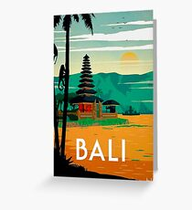 BALI : Vintage Travel and Tourism Advertising Print Greeting Card