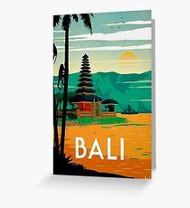 BALI : Vintage Travel and Tourism Advertising Print Greeting Card