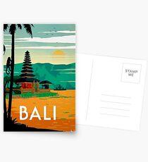 BALI: Vintage Reise- und Tourismuswerbung Print Postkarten