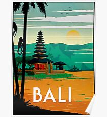 BALI : Vintage Travel and Tourism Advertising Print Poster