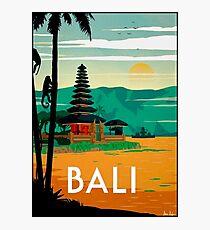 BALI : Vintage Travel and Tourism Advertising Print Photographic Print