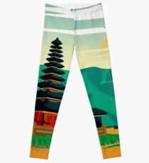 BALI : Vintage Travel and Tourism Advertising Print Leggings