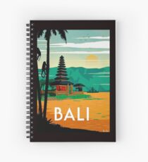 BALI : Vintage Travel and Tourism Advertising Print Spiral Notebook