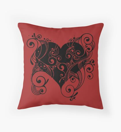 Ornate Heart Throw Pillow