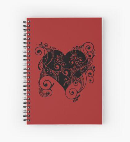 Ornate Heart Spiral Notebook