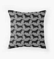 Basset Hound Silhouette(s) Floor Pillow