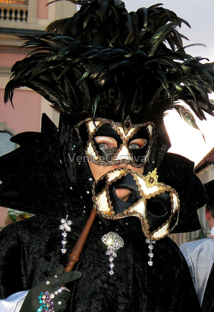 Feather Mask by VeniceCarnival