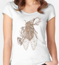 anatomy of cicada Women's Fitted Scoop T-Shirt