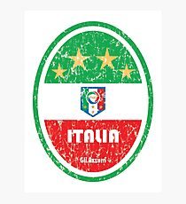 Football - Italy (Distressed) Photographic Print