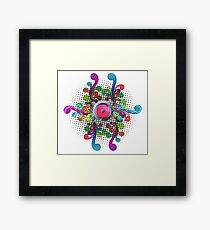 music abstract Framed Print