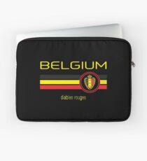 Euro 2016 Fußball - Belgien (Auswärts Schwarz) Laptoptasche