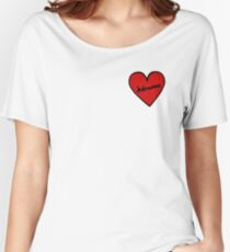 I Love Kdramas Heart Patch Women's Relaxed Fit T-Shirt