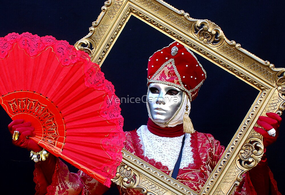 Lady in Frame close up by VeniceCarnival