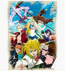 seven deadly sins posters redbubble