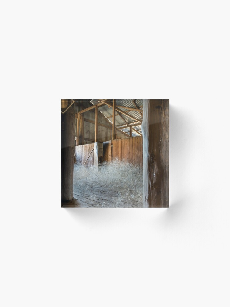 Alternate view of Old Shearing Shed Acrylic Block