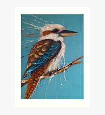 Bird Series - Kookaburra Art Print