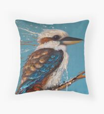 Bird Series - Kookaburra Throw Pillow